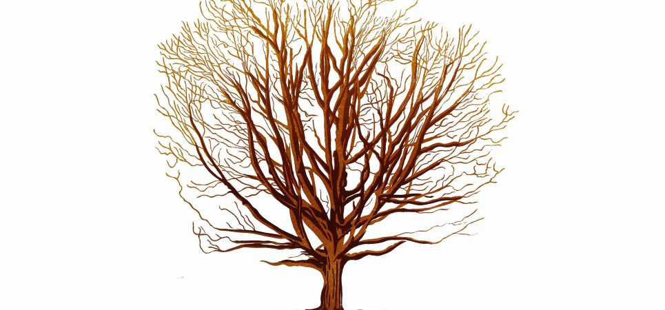 longhurst lino tree print