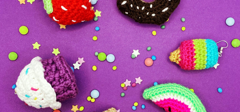 Crocheted treats by Cotton Candy Crochet Co.